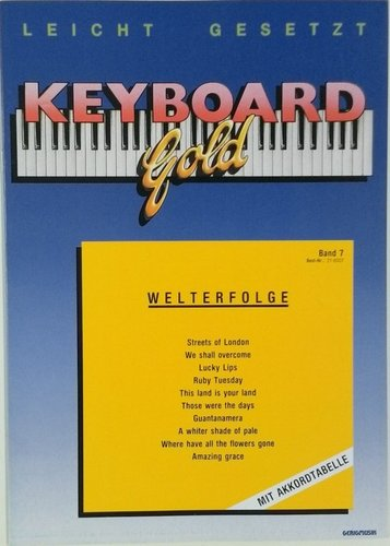 Keyboard Gold Band 7: Welterfolge